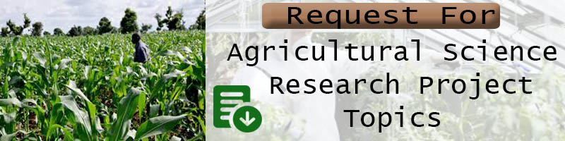 get agric science research project topics