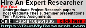 Hire An Expert Researcher,Undergraduate Project Research papers, Post Graduate Thesis, Seminer presentations,Term Papers/ Assignments